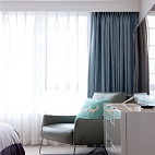 现代高级灰卧室窗帘设计图