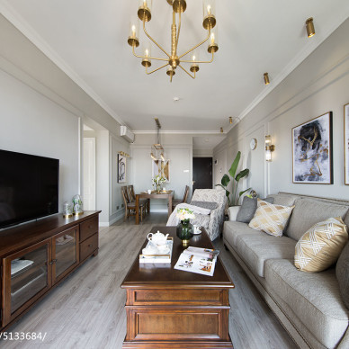 美式客厅设计实景图