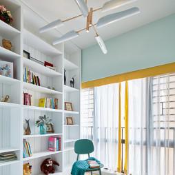 88㎡四房暖居书房设计图
