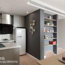 73m² 北欧混搭厨房储物柜设计图