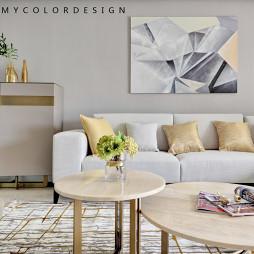轻奢现代风客厅背景画设计图