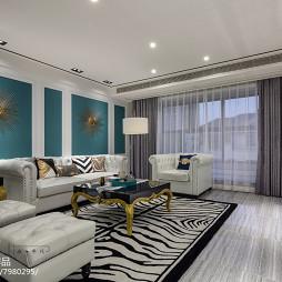 130平新古典客厅设计图片