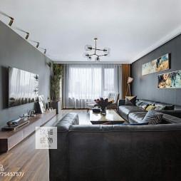 北欧客厅吊灯设计实景图