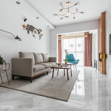 简洁北欧客厅设计图片
