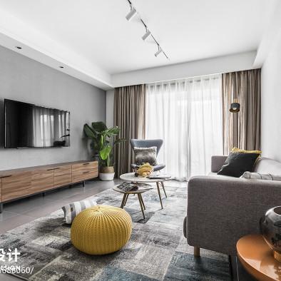 100平北欧客厅设计图
