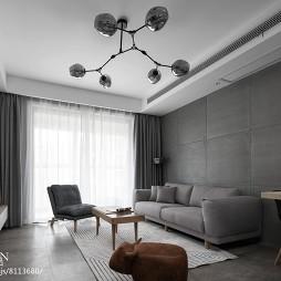 深色系个性客厅设计