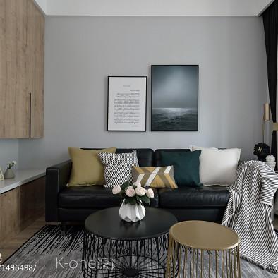 原木现代客厅设计图