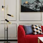 简约轻奢客厅落地灯设计