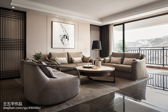 新中式极简客厅设计图