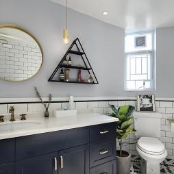 经典北欧风格卫浴洗手台设计