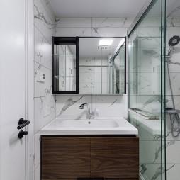 灰黑系现代卫浴洗手台设计