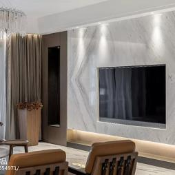 现代轻奢背景墙设计