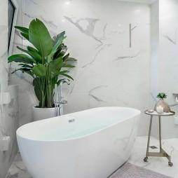 190㎡现代美式卫浴设计