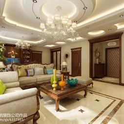 哈尔滨装修公司 华天雨润装饰 溪树庭院 125米 欧式风格_3231797