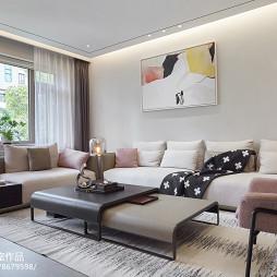 现代别墅客厅背景画设计