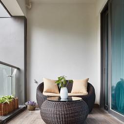 200㎡现代中式阳台设计
