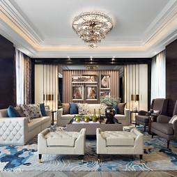 大气现代别墅客厅吊灯设计