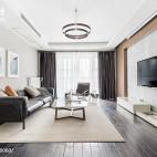 简约风三居客厅吊灯设计