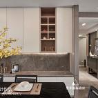 现代简约三居餐厅储物柜设计
