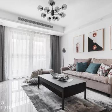 现代简约两居客厅设计图