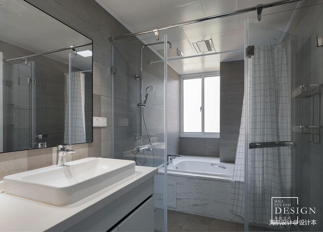 黑白极简卫浴设计