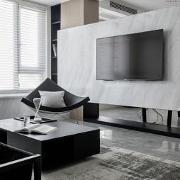 黑白现代背景墙设计