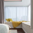 中式卧室飘窗设计图片