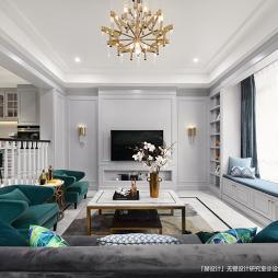 美式别墅客厅设计实景
