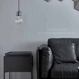 黑白简约客厅吊灯设计图