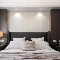现代三居卧室背景墙设计图