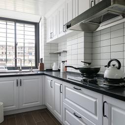 简单混搭风小户型厨房设计图