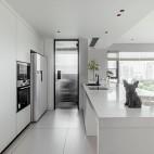 中式小吧台厨房设计图