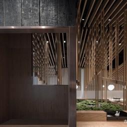面屋武藏餐厅吊顶设计图
