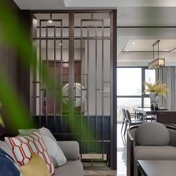 优雅中式客厅隔断设计图