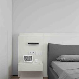 黑白系现代卧室床头设计图