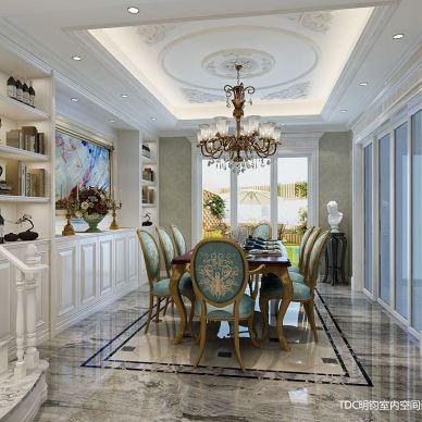 家装室内装修设计师浪漫法式风格全屋施工效果图_3278473