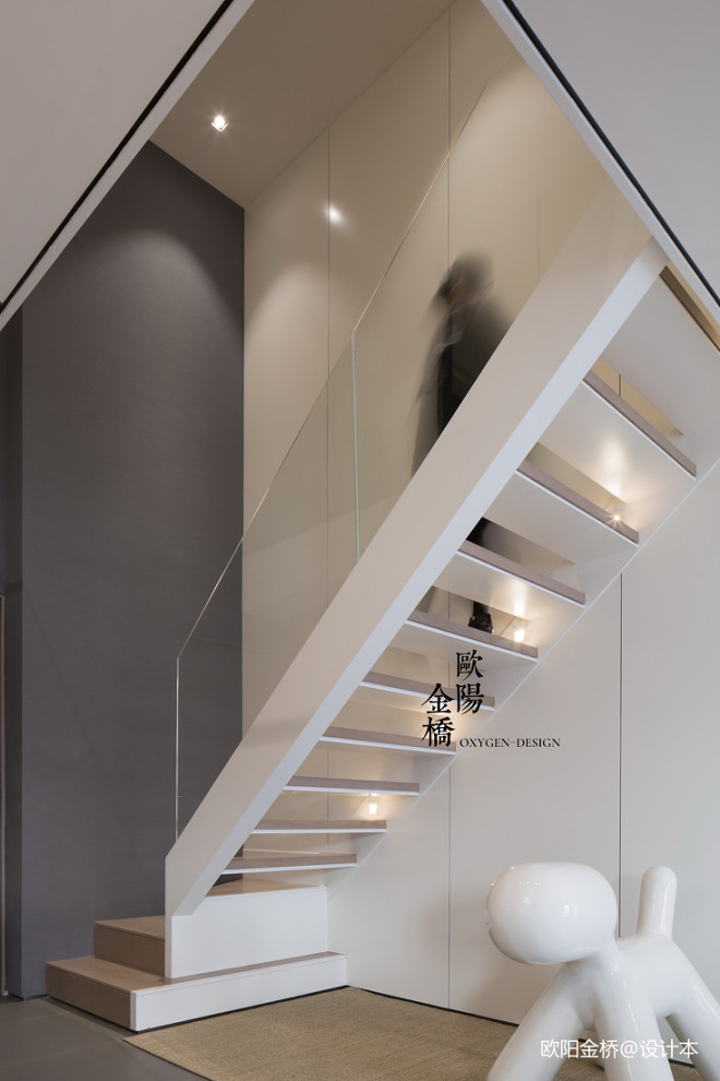 北欧轻奢Loft楼梯设计图片