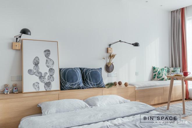 简约小户型卧室床头柜设计图