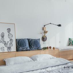 簡約小戶型臥室床頭柜設計圖