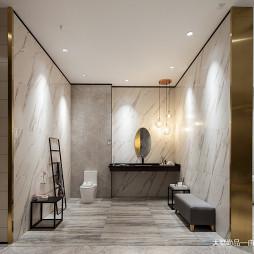 600㎡瓷砖展厅卫生间展区设计