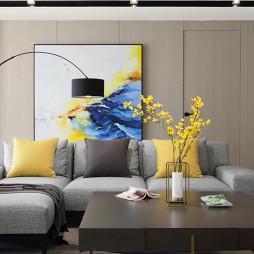 360平简约客厅挂画设计图