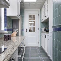 美式L型厨房设计图