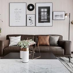 142㎡现代客厅沙发设计图
