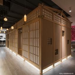 三上日本料理西湖文化广场店中庭设计图