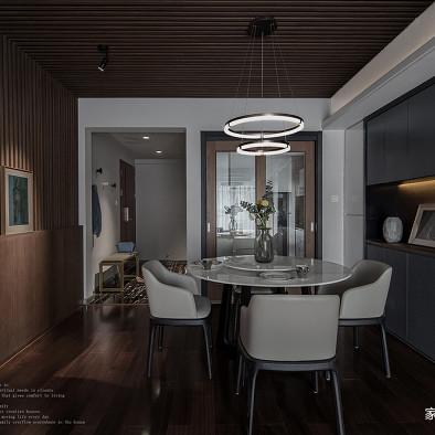 暗黑系混搭三居餐厅设计