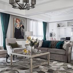 轻奢美式三居客厅设计