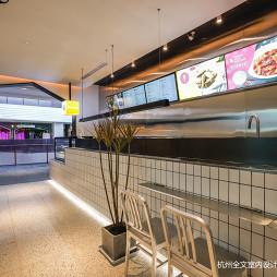 炸鸡店餐厅前台设计