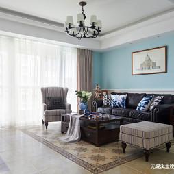 简约美式风三居客厅设计