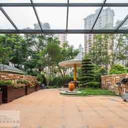 大气混搭风格别墅花园设计