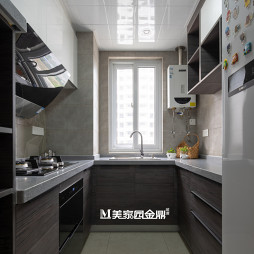 現代輕奢三居廚房設計
